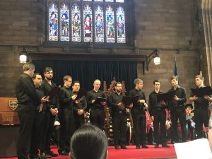Photo of the Melisma Ensemble performing at the SCD graduation ceremony 2018.